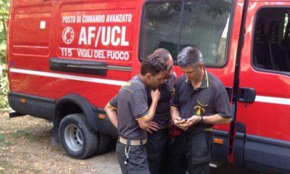Comando Vigili del fuoco impegnati nella ricerca di due giovani ragazzi