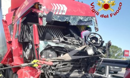 Incidente in A21, due persone soccorse