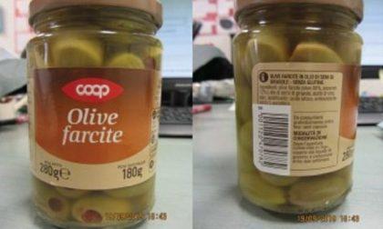 Solfiti non dichiarati, richiamo per olive farcite della Coop