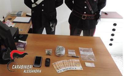Operazione antidroga ad Alessandria, due arresti e una denuncia
