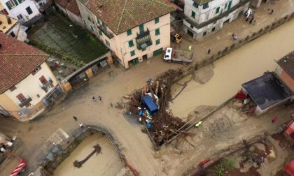 Il day after di Castelletto d'Orba, si lavora nel fango