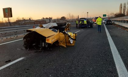 Schianto in autostrada, sull'A5 muore un giovane cadetto della scuola di Alessandria | FOTO