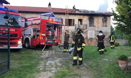 Incendio in un'abitazione a Verrua Savoia LE FOTO