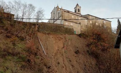 Frana al Santuario Madonna delle Rocche nell'Alessandrino