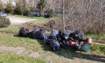 Volontari civici Acqui Terme, 50 sacchi pieni di rifiuti raccolti lungo 500 metri di fossi
