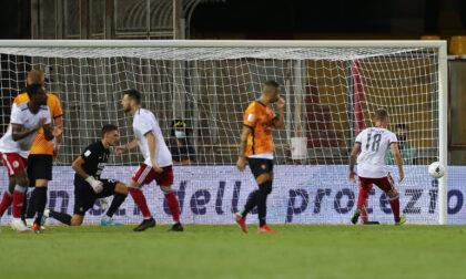 Benevento-Alessandria 4-3: ritorno amaro per i Grigi in Serie B, la tripletta di Corazza non basta